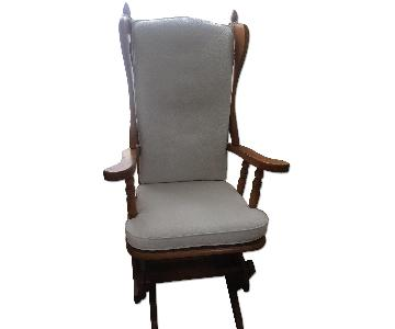 Vintage Wood & Upholstered Glider/Nursing Chair