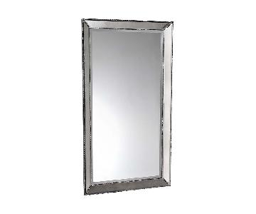 Bassett Large Silver Beaded Wall Mirror