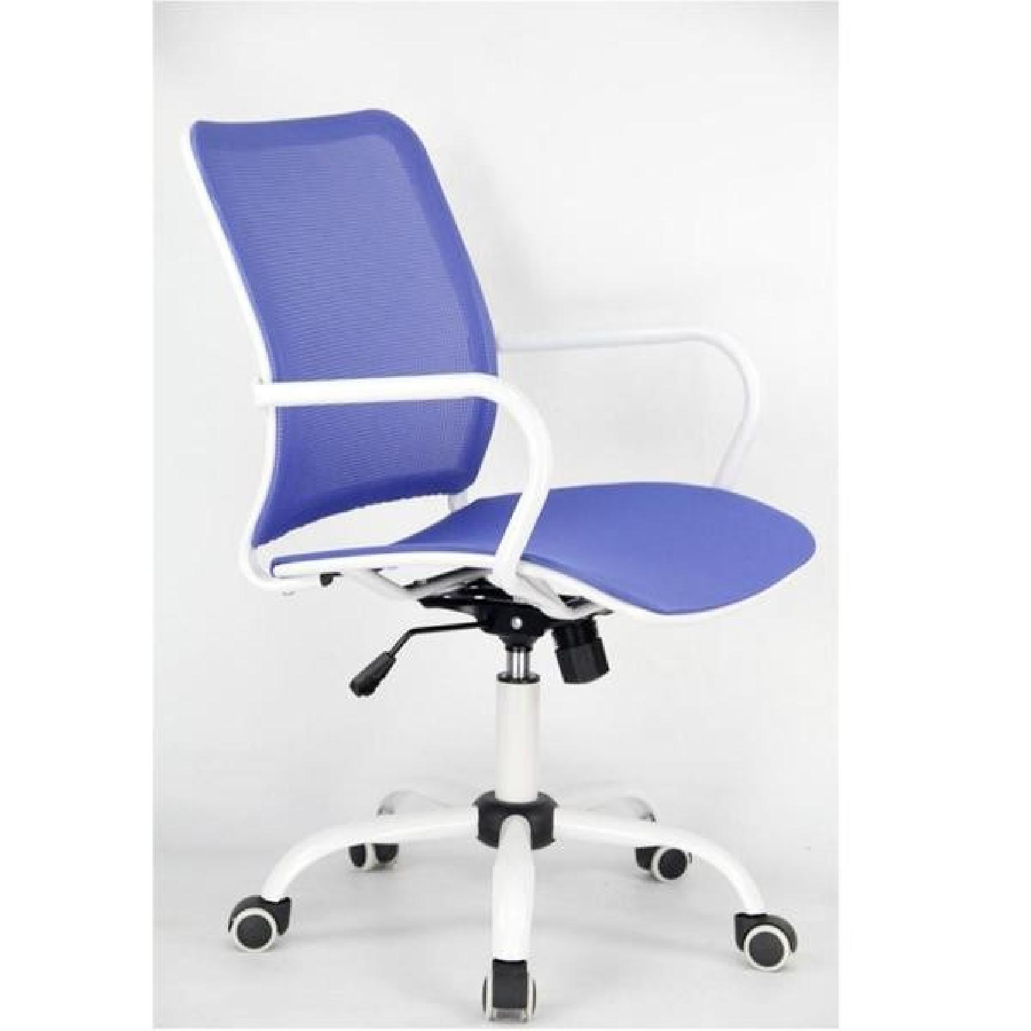 Modern Blue Mash Adjustable Height Office Chair