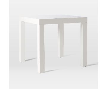 West Elm White Lacquer Square Dining Table