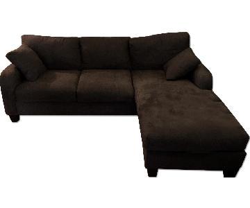 Raymour & Flanigan Grey Sectional Sofa w/ Chaise