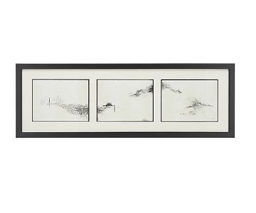 Crate & Barrel Intervals Triptych Print