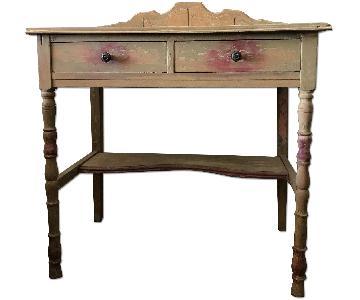 Vintage Distressed Wood Desk/Dressing Table