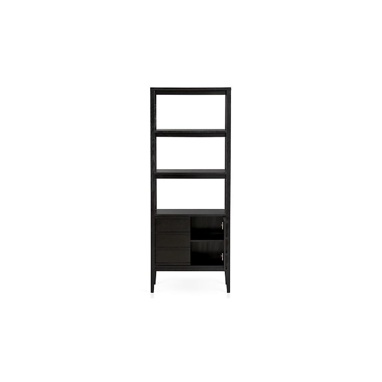 Crate & Barrel Spotlight Ebony Bookcase