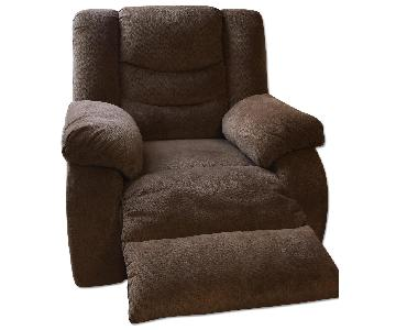 Ashley Medium Beige Recliner Chair