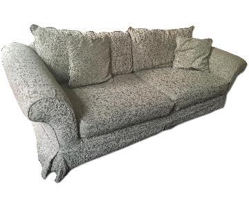 Shabby Chic Sage Green Slipcovered Sofa