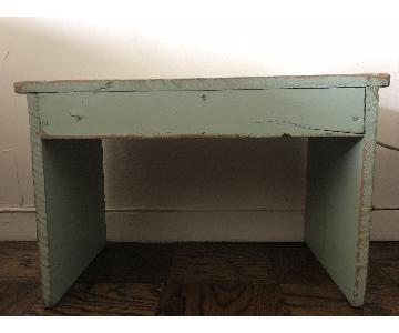 Vintage Distressed Wood Bench