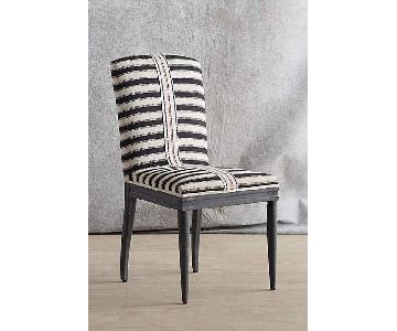 Anthropologie Grassland Stripe Dining Chair