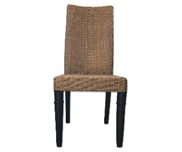 West Elm Wicker Contemporary Dining Chair