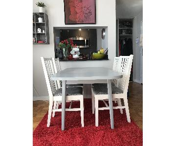 Wood Dinner Table w/ 4 Chairs