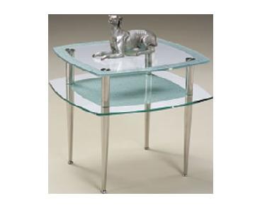 Magnussen Home Furnishings Plasma Glass End Table