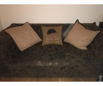 Timothy Oulton Custom Cigar Distressed Leather Couch