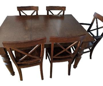 Pottery Barn Dining Room Table w/ 6 Chairs