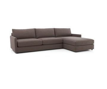 Crate & Barrel Drake 2-Piece Sectional Sofa