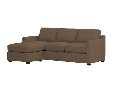 Crate & Barrel Davis 3-Seat Lounger
