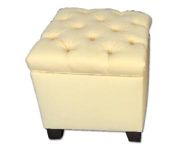 Pottery Barn Lorraine Tufted Storage Cube