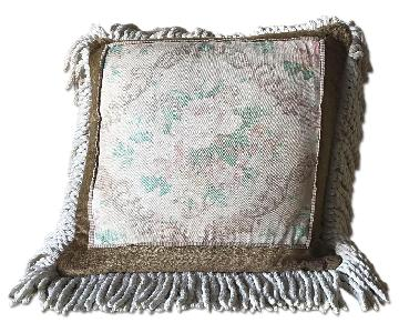Floral Pillow w/ Fringe