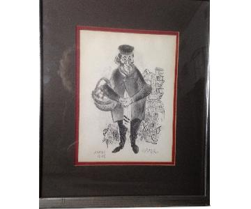 Jewish Grandfather Lithograph