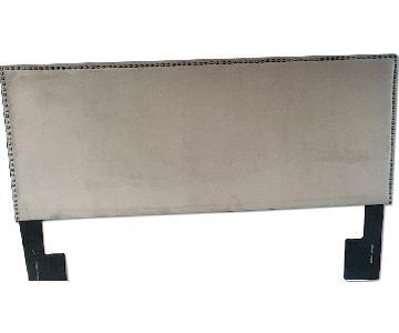 Beige Fabric King Size Headboard