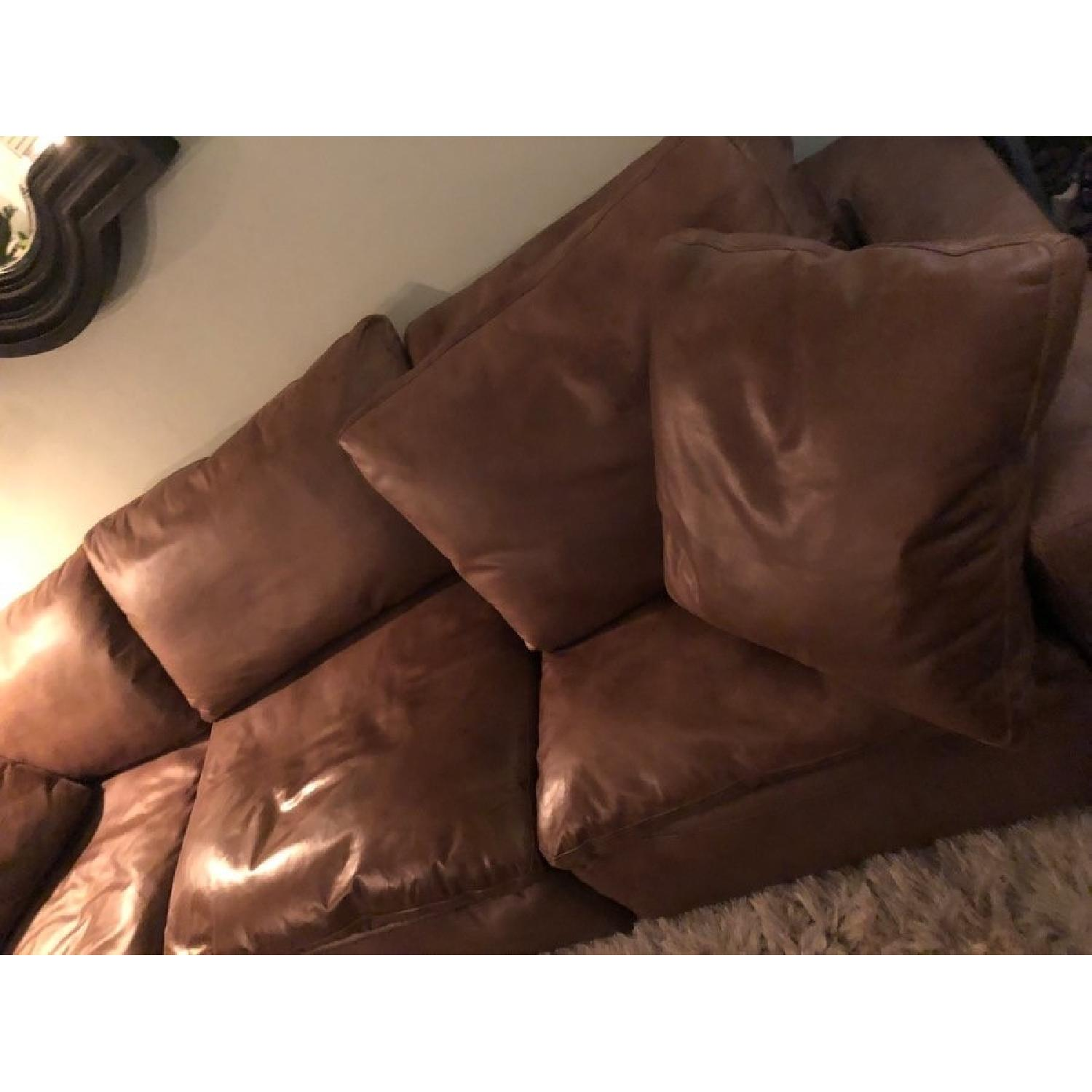 Restoration Hardware Cloud Distressed Leather Sofa ...