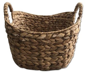 West Elm Rattan Storage Basket