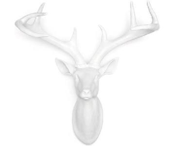 Z Gallerie Ceramic Deer Head in White