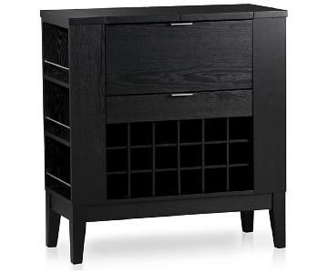 Crate & Barrel Parker Spirits Ebony Wine/Bar Cabinet