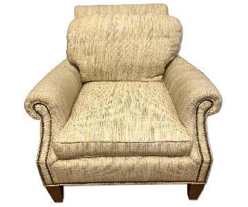 Tweed Upholstered Club Chair