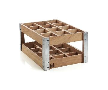 Crate & Barrel 12 Bottle Wine Rack