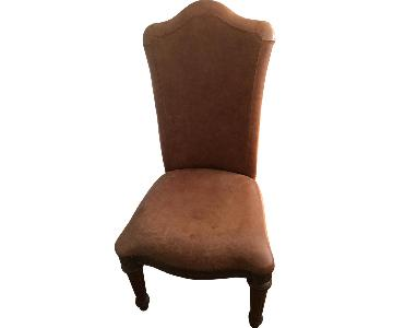 Brown Leather Upholstered Dining Chair