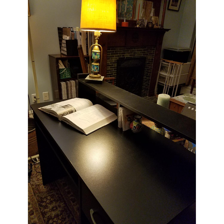South Shore Axess Desk w/ Keyboard Tray in Black-1