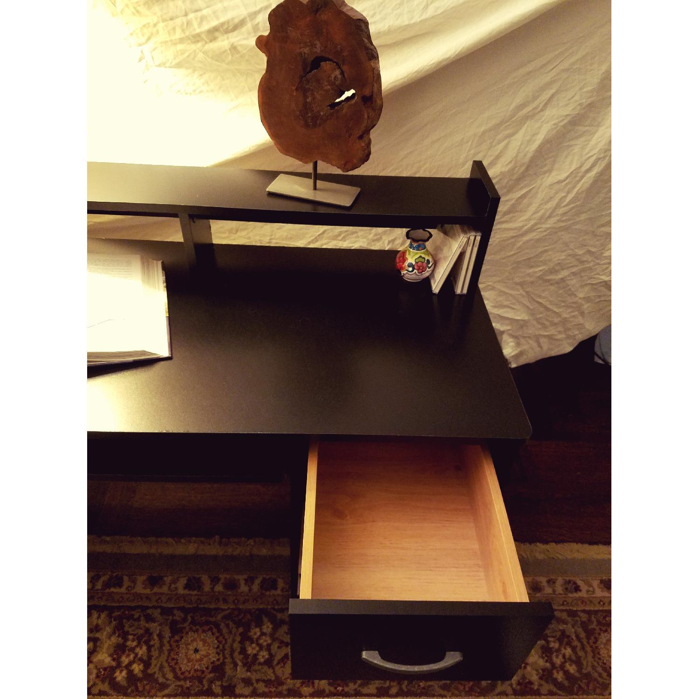 South Shore Axess Desk w/ Keyboard Tray in Black-2