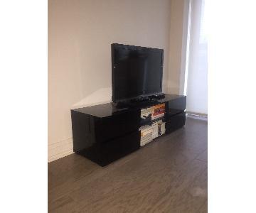 Modani Modern TV Console in Black Gloss