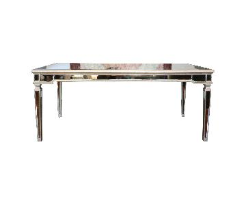 Horchow Antiqued Mirrored Dining Table