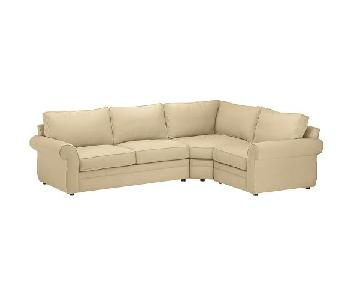 Pottery Barn Pearce Upholstered 3-Piece Sectional w/ Wedge