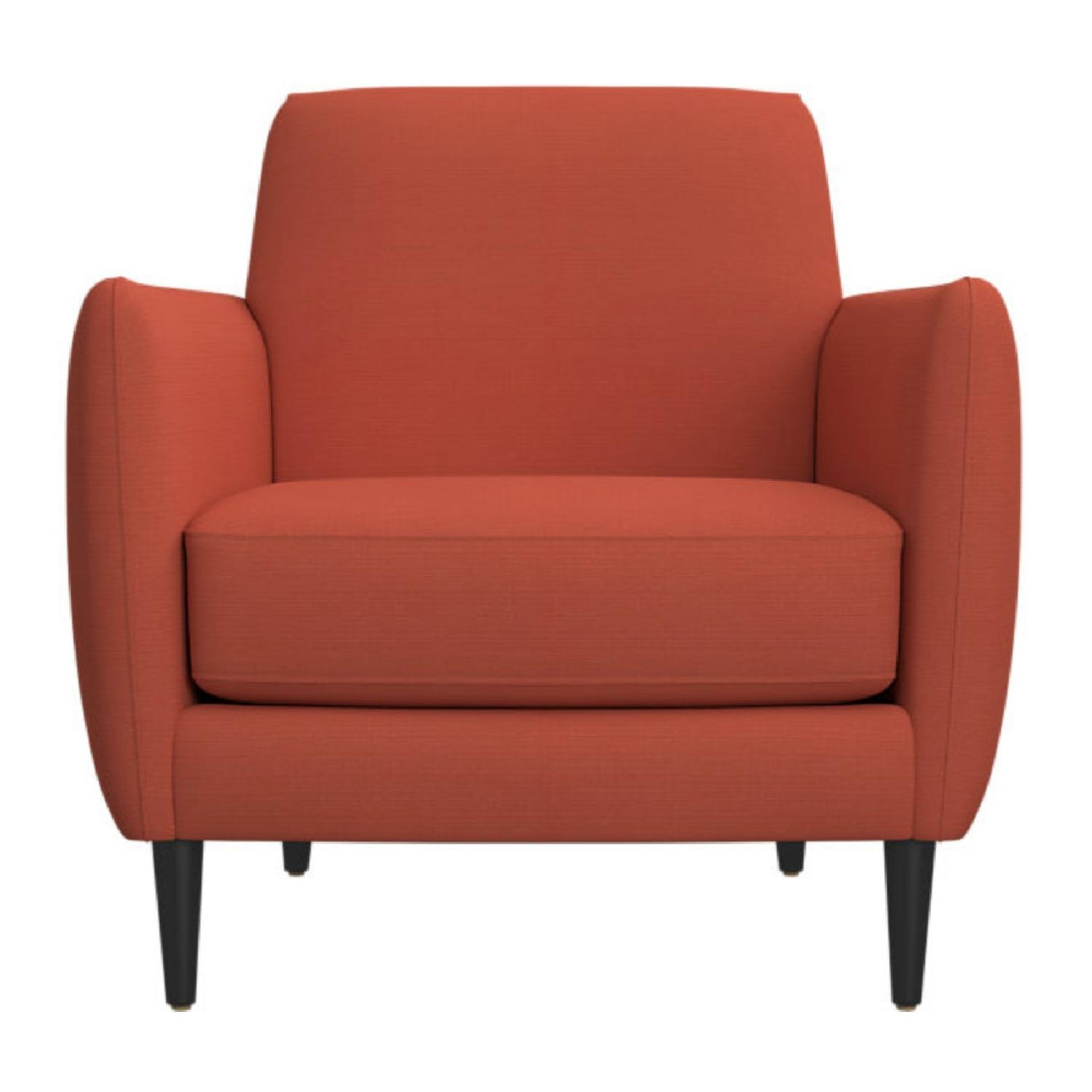 cb2 outdoor furniture. CB2 Parlour Chair In Atomic Blood Orange Cb2 Outdoor Furniture