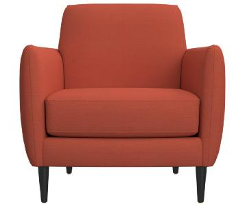 CB2 Parlour Chair in Atomic Blood Orange