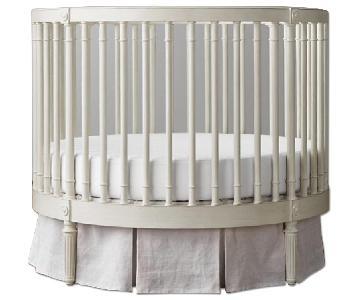 Restoration Hardware Ellery Round Crib in Aged White