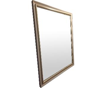 Wall Mirror w/ White Painted Wooden Frame