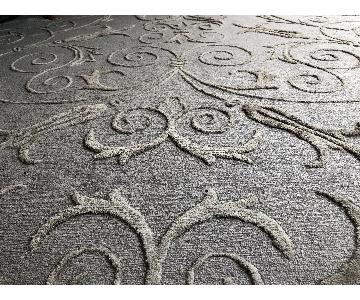 Williams Sonoma Silk & Wool Hand Knotted Rug