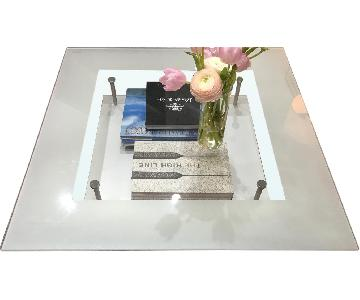 Cailleres Glass & Metal Coffee Table
