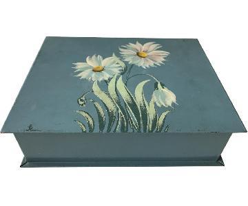 Blue Tin Decorative Box