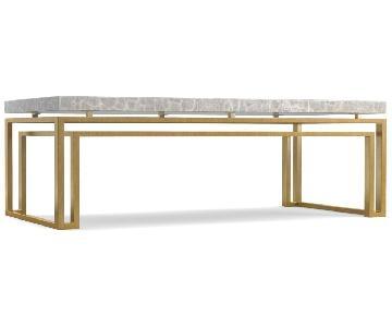 Hooker Cynthia Rowley Gold Leaf & Marble Coffee Table