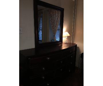 Abington Brown 10 Drawer Dresser w/ Mirror