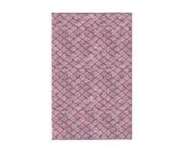 West Elm Watercolor Trellis Wool Shag Rug