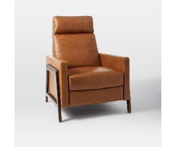 West Elm Spencer Leather Recliner