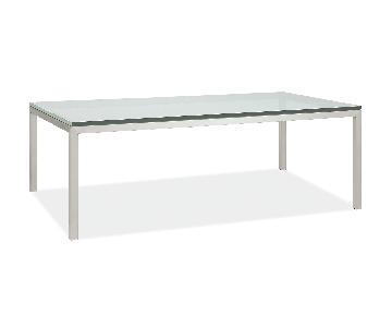 Room & Board Portica Glass Top Coffee Table