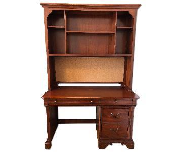 Raymour & Flanigan Office Desk w/ Bookshelf Hutch