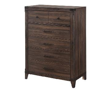 Dark Grey Oak High Chest
