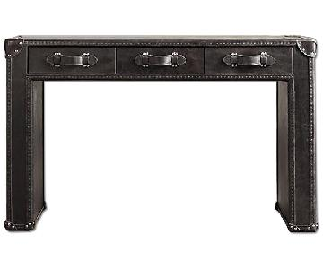 Restoration Hardware Mayfair Steamer Trunk 3-Drawer Desk